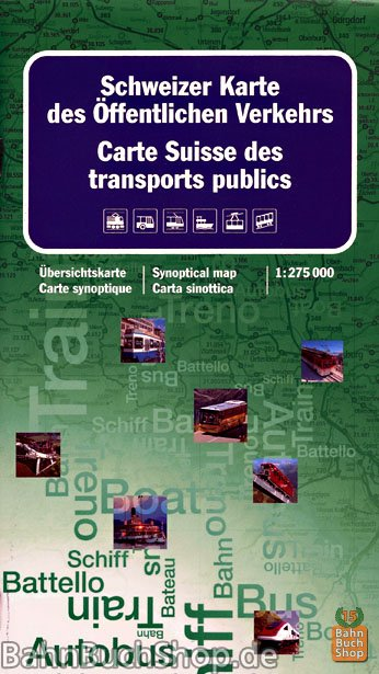 Schweizer Karte Des Offentlichen Verkehrs Bahnbuchshop De Bucher E